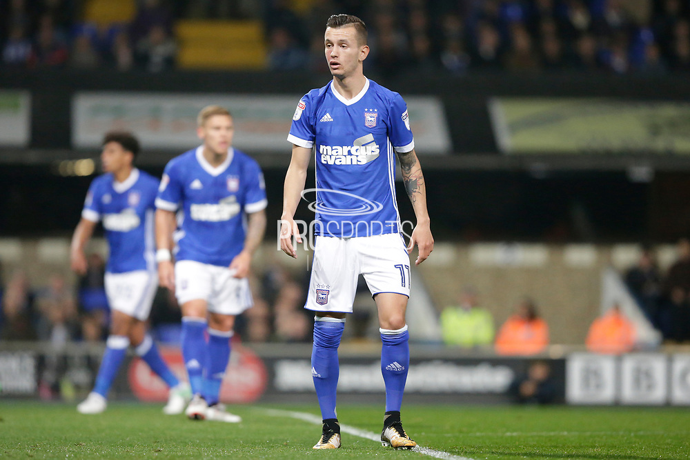 Ipswich Town midfielder Bersant Celina (11) during the EFL Sky Bet Championship match between Ipswich Town and Sunderland at Portman Road, Ipswich, England on 26 September 2017. Photo by Phil Chaplin.
