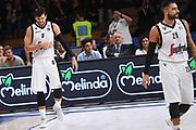 Alessandro Gentile, Pietro Aradori<br /> Dolomiti Energia Trentino - Virtus Segafredo Bologna<br /> Lega Basket Serie A 2017/2018<br /> Trento, 30/09/2017<br /> Foto M.Ceretti / Ciamillo - Castoria