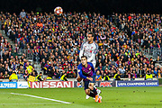 Liverpool defender Joel Matip (32) tussles with Barcelona midfielder Courtinho (7) during the Champions League semi-final leg 1 of 2 match between Barcelona and Liverpool at Camp Nou, Barcelona, Spain on 1 May 2019.