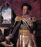 Pedro I of Brazil (1798 – 1834), founder and first ruler of the Empire of Brazil and also King of Portugal as Pedro IV, having reigned for eight years in Brazil and two months in Portugal respectively. by Manoel de Araújo Porto-alegre (1806–1879)
