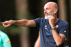 coach Stefano Pioli of ACF Fiorentina during the Pre-season Friendly match between Heracles Almelo and Fiorentina at Sportpark Wiesel  on August 01, 2018 in Wenum-Wiesel , The Netherlands