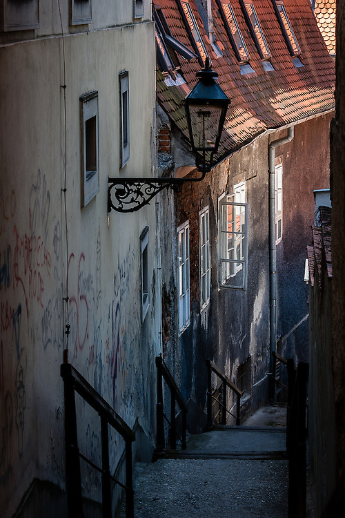 A back street in Zagreb