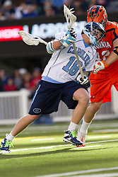 10 April 2010: North Carolina Tar Heels midfielder Zander Walters (18) during a 7-5 loss to the Virginia Cavaliers at the New Meadowlands Stadium in the Meadowlands, NJ.