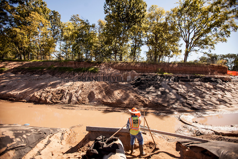 9/30/16 11:15:22 AM -- Lodge construction update. Mist Mountain Foundations, Peggy's Pond Rock install. <br /> <br /> Photo by Shane Bevel