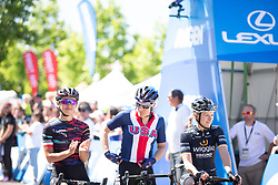 Katarzyna Niewiadoma (POL) of CANYON//SRAM Racing Team before Stage 1 of the Amgen Tour of California - a 124 km road race, starting and finishing in Elk Grove on May 17, 2018, in California, United States. (Photo by Balint Hamvas/Velofocus.com)