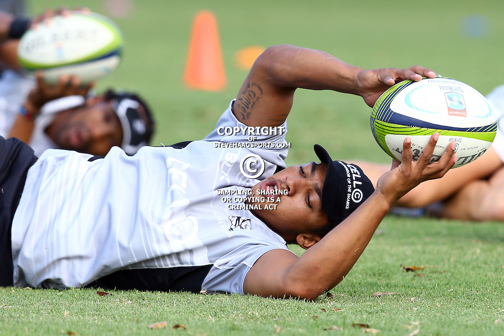 DURBAN, SOUTH AFRICA, November 26 2015 -Garth April during The Cell C Sharks Pre Season training for the 2016 Super Rugby Season at Growthpoint Kings Park in Durban, South Africa. (Photo by Steve Haag)<br /> images for social media must have consent from Steve Haag