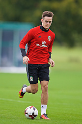 CARDIFF, WALES - Friday, September 2, 2016: Wales' Tom Lawrence during a training session at the Vale Resort ahead of the 2018 FIFA World Cup Qualifying Group D match against Moldova. (Pic by David Rawcliffe/Propaganda)