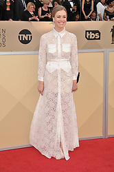 Maria Dolores Dieguez arrives at the 24th annual Screen Actors Guild Awards at The Shrine Exposition Center on January 21, 2018 in Los Angeles, California. <br />