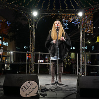 Angel voice Chelsea Brown preforms on stage at Stratford City Westfield bandstand