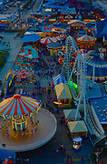 Aerial view from Ferris Wheel. Morey's Pier, Wildwood Boardwalk, NJ shore