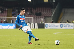 October 21, 2017 - Napoli, Napoli, Italy - Naples - Italy 21/10/2017.JOSE MARIA CALLEJON of  S.S.C. NAPOLI   ball during Serie A  match between S.S.C. NAPOLI and Inter  at Stadio San Paolo of Naples. (Credit Image: © Emanuele Sessa/Pacific Press via ZUMA Wire)