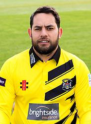 Kieran Noema-Barnett of Gloucestershire Cricket poses for a headshot in the NatWest T20 Blast kit - Mandatory by-line: Robbie Stephenson/JMP - 04/04/2016 - CRICKET - Bristol County Ground - Bristol, United Kingdom - Gloucestershire  - Gloucestershire Media Day