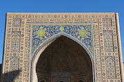 Uzbekistan, Samarqand.<br /> Registan ensemble.<br /> Tilla-Kari Medressa.