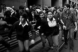 CESKOSLOVENSKO 80's<br /> <br /> 28.rijen1988,Praha_Komunisticka policie bije ucastniky protirezimni demonstrace na Vaclavskem namesti_ulice Vodickova. Vyroci statniho svatku vzniku Ceskoslovenske republiky.