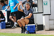 Forest Green Rovers manager, Mark Cooper during the Pre-Season Friendly match between Bath City and Forest Green Rovers at Twerton Park, Bath, United Kingdom on 27 July 2019.