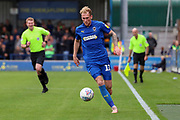AFC Wimbledon midfielder Mitchell (Mitch) Pinnock (11) dribbling during the EFL Sky Bet League 1 match between AFC Wimbledon and Rochdale at the Cherry Red Records Stadium, Kingston, England on 5 October 2019.