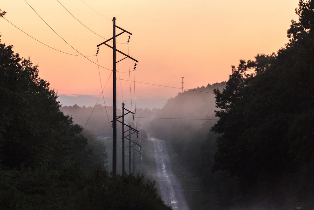 A misty landscape