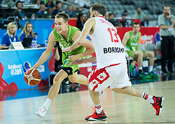 Klemen Prepelic of Slovenia vs Viktor Sanikidze of Georgia during basketball match between Slovenia and Georgia at Day 2 in Group C of FIBA Europe Eurobasket 2015, on September 6, 2015, in Arena Zagreb, Croatia. Photo by Vid Ponikvar / Sportida