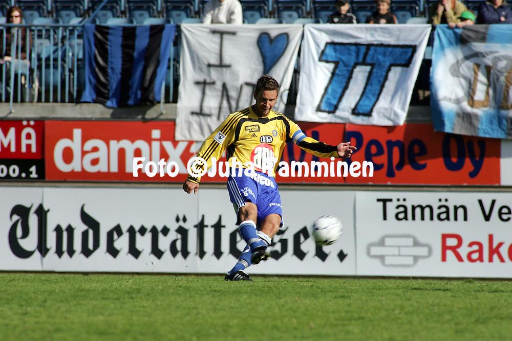 28.05.2005, Veritas Stadion, Turku, Finland..Veikkausliiga 2005 / Finnish League 2005.FC Inter Turku v HJK Helsinki.Joakim Jensen - HJK.©Juha Tamminen.....ARK:k