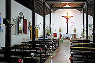 Church interior in Cumanayagua, Cienfuegos, Cuba.