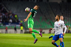 Roman Bezjak of Slovenia during football match between National teams of Slovenia and Slovakia in Round #2 of FIFA World Cup Russia 2018 qualifications in Group F, on October 8, 2016 in SRC Stozice, Ljubljana, Slovenia. Photo by Ziga Zupan / Sportida