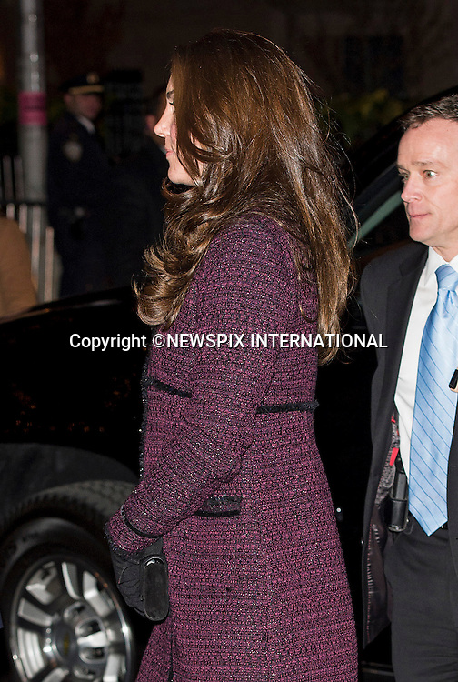 07.12.2014 (No UK Usage For 28 Days); New York, USA: KATE MIDDLETON WITH ARMED SECRET SERVICEMAN<br /> arrive at the Carlyle Hotel at the start of their 3-day visit to New York City.<br /> Mandatory Photo Credit: &copy;NEWSPIX INTERNATIONAL<br /> <br /> **ALL FEES PAYABLE TO: &quot;NEWSPIX INTERNATIONAL&quot;**<br /> <br /> PHOTO CREDIT MANDATORY!!: NEWSPIX INTERNATIONAL(Failure to credit will incur a surcharge of 100% of reproduction fees)<br /> <br /> IMMEDIATE CONFIRMATION OF USAGE REQUIRED:<br /> Newspix International, 31 Chinnery Hill, Bishop's Stortford, ENGLAND CM23 3PS<br /> Tel:+441279 324672  ; Fax: +441279656877<br /> Mobile:  0777568 1153<br /> e-mail: info@newspixinternational.co.uk