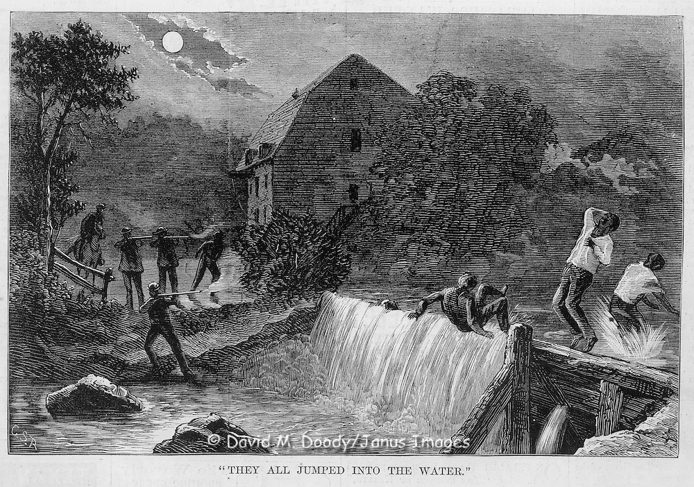 Vintage Illustration:  Harper's Weekly  1872 KKK  murders of blacks