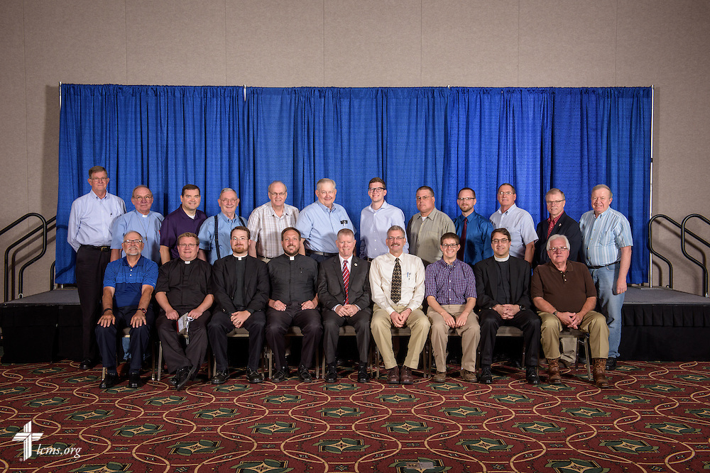 Iowa District East group photograph on Monday, July 11, 2016, at the 66th Regular Convention of The Lutheran Church–Missouri Synod, in Milwaukee. LCMS/Erik M. Lunsford