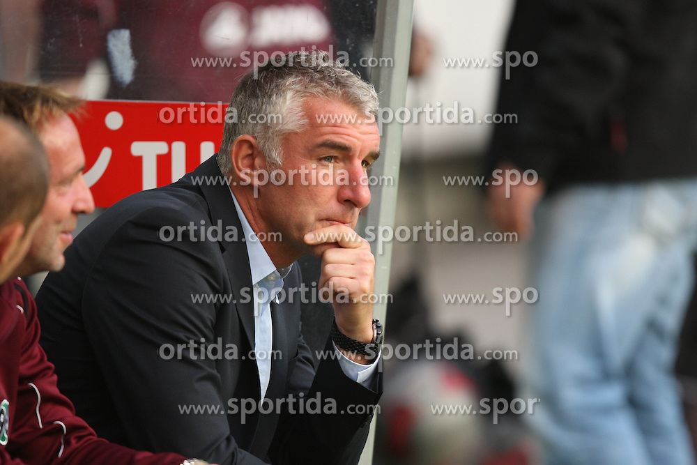 FootballL: Europa League, Qualification, Hannover 96 - St. Patricks Athletic, Hannover, 09.08.2012..coach Mirko Slomka (Hannover)..© pixathlon