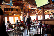 During a busy Sunday lunch, a waitress is running around the Sagebrush Cantina, 23527 Calabasas Rd, Calabasas, CA 91302, USA, where Alexis Neisers, a member of the Bling Ring, used to carry out the same job.