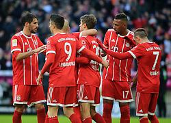 20180121, 1.BL, FC Bayern vs Werder Bremen, Allianz Arena Muenchen, Fussball, Sport, im Bild:..Jubel zum 1:1 Torschuetze Thomas Mueller (FCB)...*Copyright by:  Philippe Ruiz..Postbank Muenchen.IBAN: DE91 7001 0080 0622 5428 08..Oberbrunner Strasse 2.81475 MŸnchen, .Tel: 089 745 82 22, .Mobil: 0177 29 39 408..( MAIL:  philippe_ruiz@gmx.de ) ..Homepage: www.sportpressefoto-ruiz.de. (Credit Image: © Philippe Ruiz/Xinhua via ZUMA Wire)