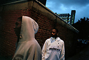 G.B. ENGLAND. London.  Members of E14 Movement on Aberfeldy Road. 2005.