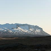 Fanndalsfjall above the town Breiðdalsvík, East Iceland.