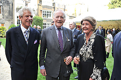 MR CHRISTOPHER BALFOUR and SIR PEREGRINE & LADY BERTIE at a reception hosted by the Friends of the Castle of Mey held at the Goring Hotel, Beeston Place, London on 22nd May 2012.