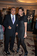 EDMOND AVAKIAN AND HIS DAUGHTER CORINNE AVAKIAN, The Foreign Sisters lunch sponsored by Avakian in aid of Cancer Research UK. The Dorchester. 15 May 2012