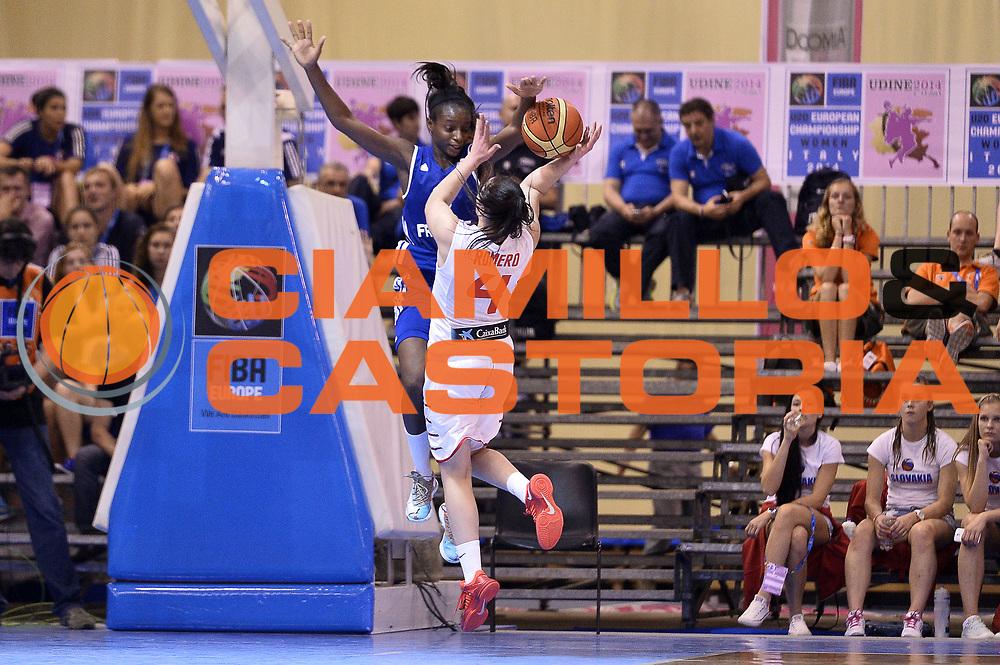 DESCRIZIONE : Udine U20 Campionato Europeo Femminile Finale 1-2 posto Spagna Francia European Championship Women Final 1-2 Place Spain France<br /> GIOCATORE : Leticia Romero Mamignan Toure&rsquo;<br /> CATEGORIA : Stoppata Tiro Controcampo <br /> SQUADRA : Spagna Spain Francia France<br /> EVENTO : Udine U20 Campionato Europeo Femminile Finale 1-2 posto Spagna Francia European Championship Women Final 1-2 Place Spain France<br /> GARA : Spagna Francia Spain France<br /> DATA : 13/07/2014<br /> SPORT : Pallacanestro <br /> AUTORE : Agenzia Ciamillo-Castoria/Max.Ceretti<br /> Galleria : Europeo Under 20 Femminile <br /> Fotonotizia : Udine U20 Campionato Europeo Femminile Finale 1-2 posto Spagna Francia European Championship Women Final 1-2 Place Spain France<br /> Predefinita :