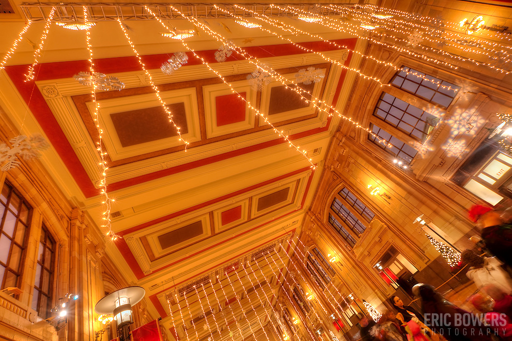 Waiting Hall at Union Station decorated for the Christmas season, 2012, downtown Kansas City, MO.