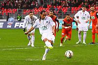 Goal Bruno GROUGI - 03.01.2015 - Brest / Laval - Coupe de Farnce -<br />Photo : Maxime Kerriou / Icon Sport