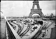 railroad tracks by the Eiffel Tower Exposition Universelle de Paris, 1889