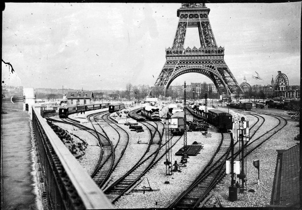 railroad tracks by the Eiffel Tower Exposition Universelle de Paris, 1889