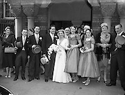 04/10/1956<br /> 10/04/1956<br /> 04 October 1956<br /> <br /> Wedding - Mr George Evans, Glenbeigh, Kerry and Miss Miriam Ann O'Connell, Landsdowne Rd., Dublin at University Church (Church of Ireland)