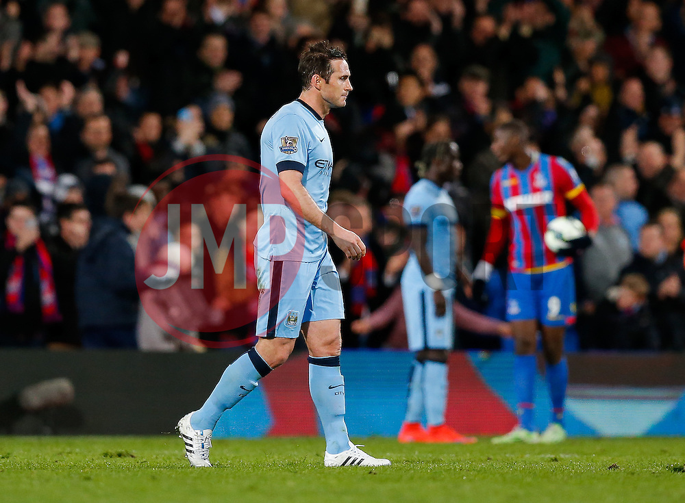 Frank Lampard of Manchester City looks dejected after Crystal Palace win the match 2-1 - Photo mandatory by-line: Rogan Thomson/JMP - 07966 386802 - 06/04/2015 - SPORT - FOOTBALL - London, England - Selhurst Park - Crystal Palace v Manchester City - Barclays Premier League.