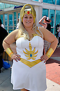 Garden City, New York, USA. 14th June 2015. CRISTEN LLOYD, of South Hampton, is cosplaying as She-Ra, at Eternal Con, the Long Island Comic Con, at the Cradle of Aviation museum.