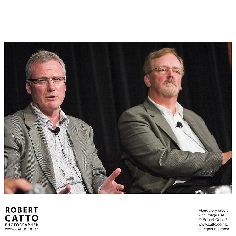 Steve Maharey;Rick Friesen at the Spada Conference 06 at the Hyatt Regency Hotel, Auckland, New Zealand.<br />