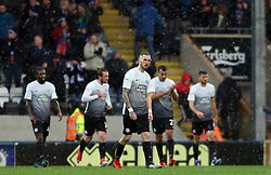 Marcus Maddison of Peterborough United (centre) cuts a dejected figure after Rochdale score their second goal - Mandatory by-line: Joe Dent/JMP - 25/11/2017 - FOOTBALL - Crown Oil Arena - Rochdale, England - Rochdale v Peterborough United - Sky Bet League One