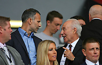 Football - 2018 / 2019 Premier League - AFC Bournemouth vs. Cardiff City<br /> <br /> Bournemouth's Chairman Jeff Mostyn chats to Welsh manager Ryan Giggs before kick off at the Vitality Stadium (Dean Court) Bournemouth <br /> <br /> COLORSPORT/SHAUN BOGGUST