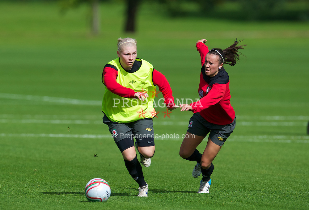 CARDIFF, WALES - Wednesday, September 12, 2012: Wales' Lauren Price during a training session at the Vale of Glamorgan ahead of the UEFA Women's Euro 2013 Qualifying Group 4 match against Scotland. (Pic by David Rawcliffe/Propaganda)