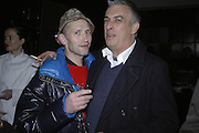 Michael Clarke and Rifat Ozbek, Aperiatur Terra, Private View of work by  Anselm Kiefer<br />White Cube, Mason's Yard. - Afterwards dinner at the  NCP Brewer Street (Top<br />Floor)  London, 25 January 2007. -DO NOT ARCHIVE-© Copyright Photograph by Dafydd Jones. 248 Clapham Rd. London SW9 0PZ. Tel 0207 820 0771. www.dafjones.com.