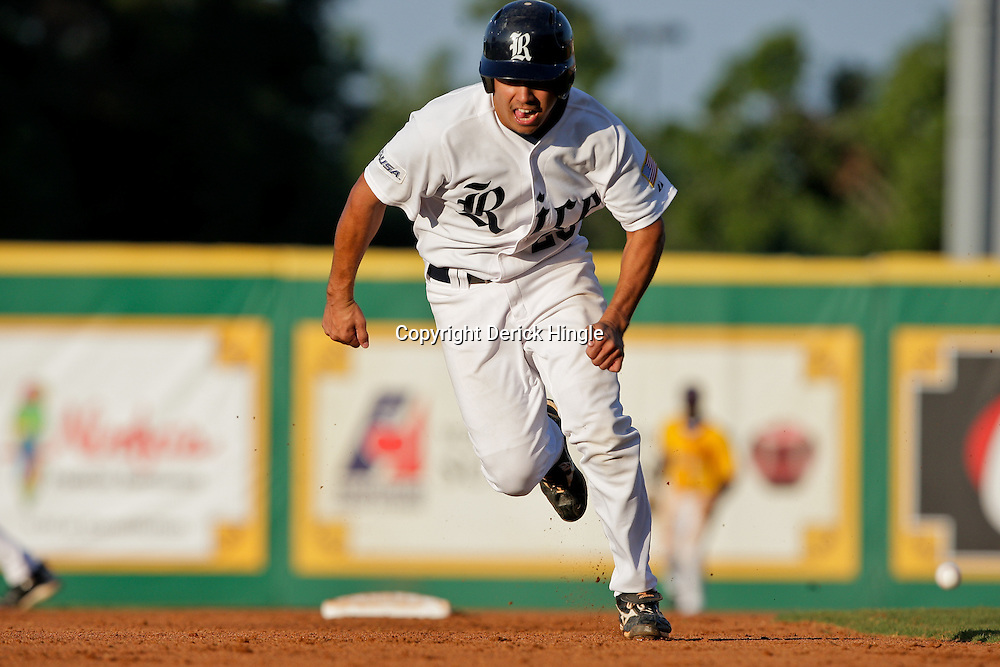 05 June 2009:  Anthony Rendon (23) of Rice runs the bases during game one of the NCAA baseball College World Series, Super Regional game between the Rice Owls and the LSU Tigers at Alex Box Stadium in Baton Rouge, Louisiana.