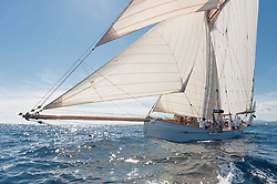 """Alex Laird restored Partridge over a long period of 20 years on the Isle of Wight and she made her debut at the Mediterranean regatta circuit in 1999.   In the same year Yachting World wrote an article on Partridge and described her as """"one of the prettiest gaff-rigged cutters in existence"""" and """"she's fast, very fast"""". Designer:J Beavor Webb<br /> Type of Boat:<br /> Rig:Gaff Cutter<br /> Year Built:1885<br /> Built By:Camper & Nicholson, Gosport, UK<br /> LOA m / ft: 21.88m / 71'7""""<br /> LOD m / ft:14.9m / 49' 2""""<br /> LWL m / ft: 12.7m / 41' 7""""<br /> Beam m / ft:3.19m / 10' 5""""<br /> Draft m / ft: 2.58m / 8' 5""""<br /> Yard No:<br /> Sail StatsSail Area: 250msq.<br /> Construction:<br /> Other:Displacement: 28 tons."""